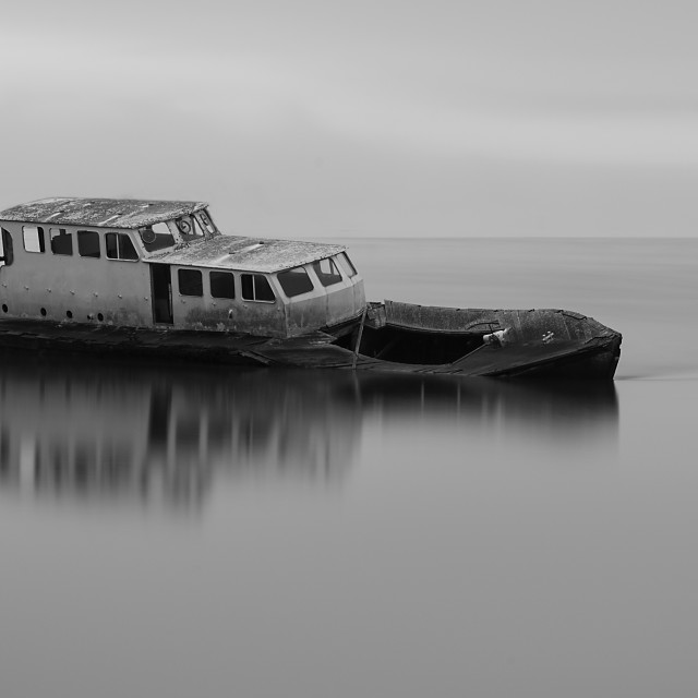 """""""Dundrum Boat"""" stock image"""