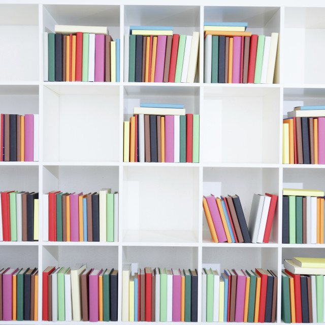 """Books on a bookshelf"" stock image"