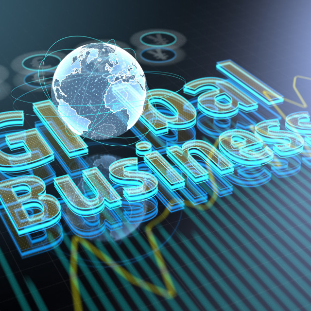 """Global business, conceptual illustration"" stock image"