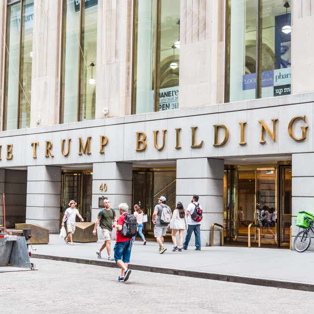 """""""The Trump Building in New York City"""" stock image"""