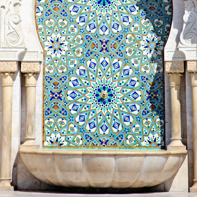 """""""Close up of Arabic Architecture. King Hassan II Mosque, Casablan"""" stock image"""