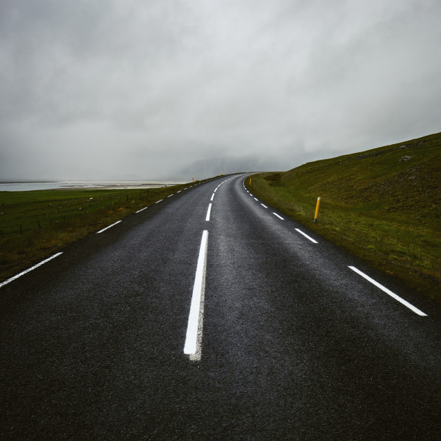 """""""An empty road background."""" stock image"""