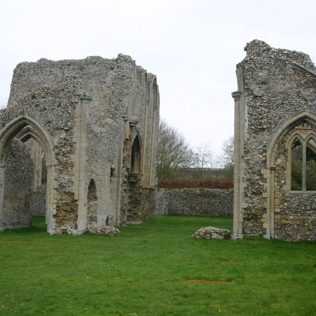 """Creake Abbey"" stock image"