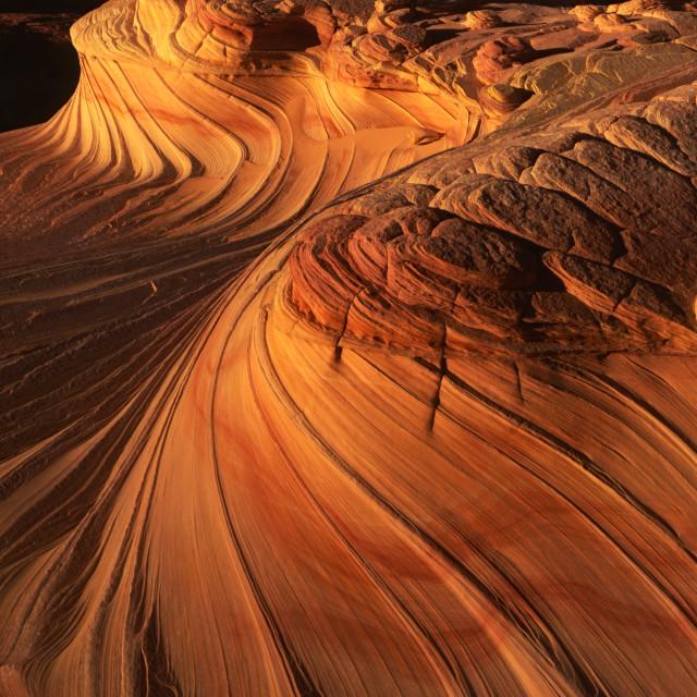 """Sandstone Swirls at Coyote Buttes on the Arizona Utah Border USA"" stock image"