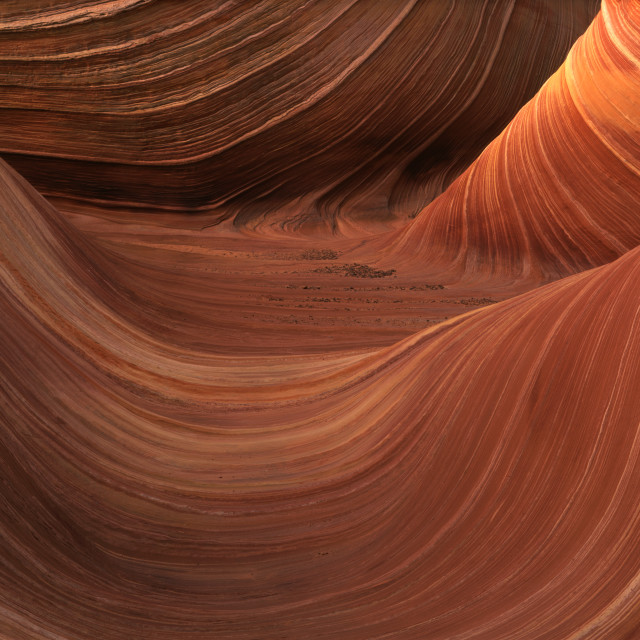 """The Wave Sandstone Rock Formation at Coyote Buttes"" stock image"
