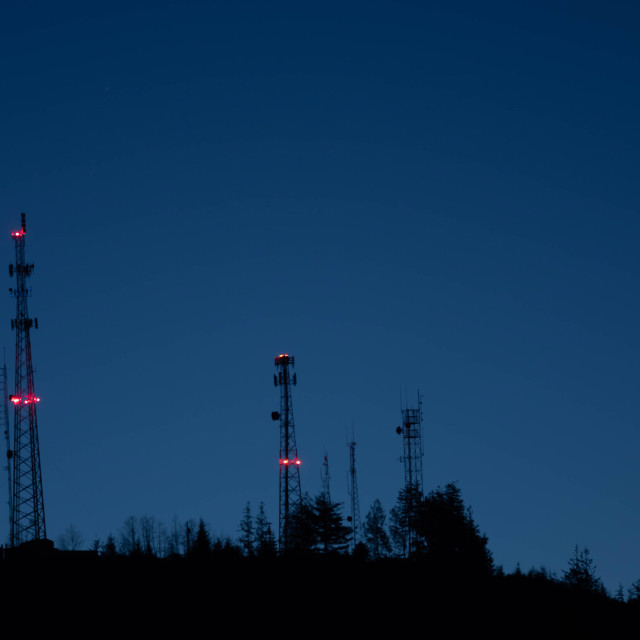 """""""Broadcast Towers"""" stock image"""