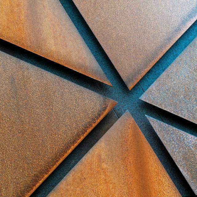 """Steel art work"" stock image"
