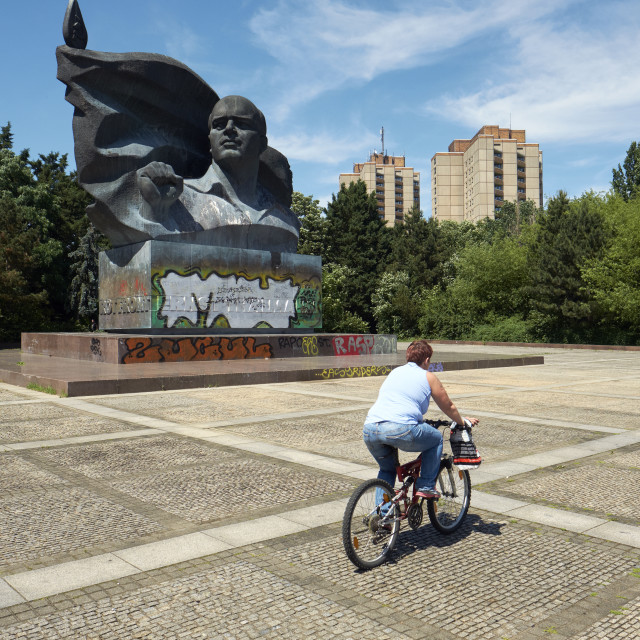 """""""Cycling in Berlin Germany."""" stock image"""