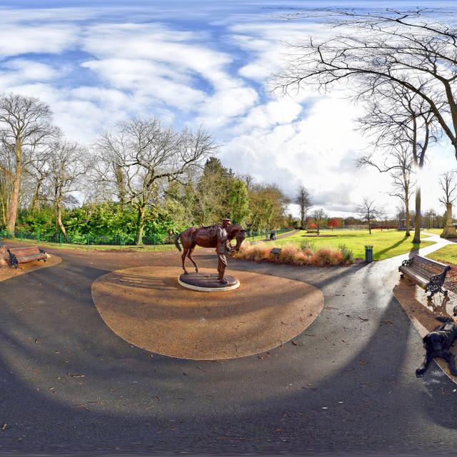 """War Memorial Park and Gardens in Romsey"" stock image"