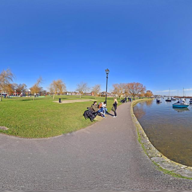 """Christchurch harbour (SLR-360VR)"" stock image"
