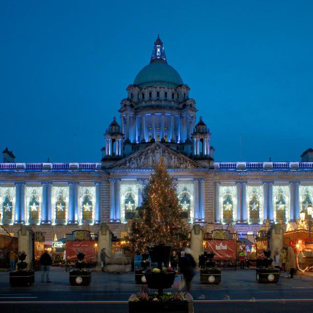 """""""Belfast CIty Hall at Christmas"""" stock image"""