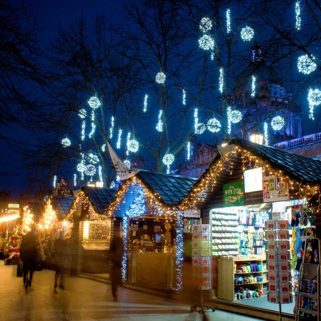 """Christmas Market in Belfast"" stock image"