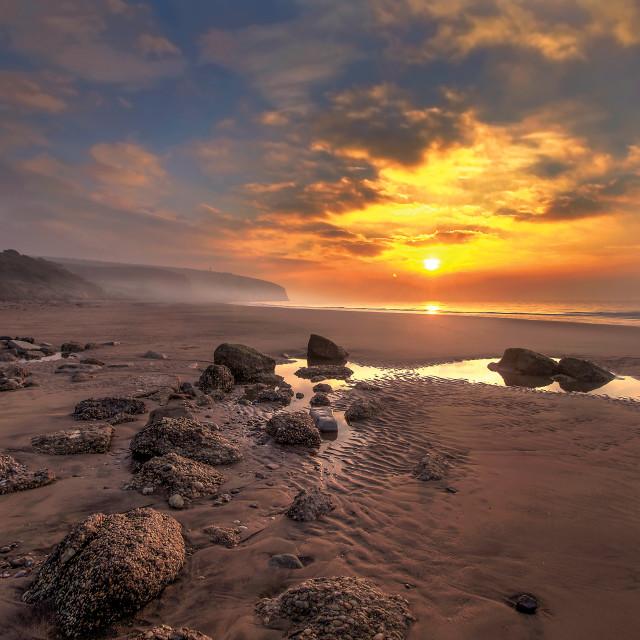 """Sunrise at Culver Cliff Sandown, Isle of Wight"" stock image"