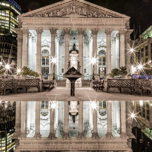 """Royal Exchange Reflection"" stock image"