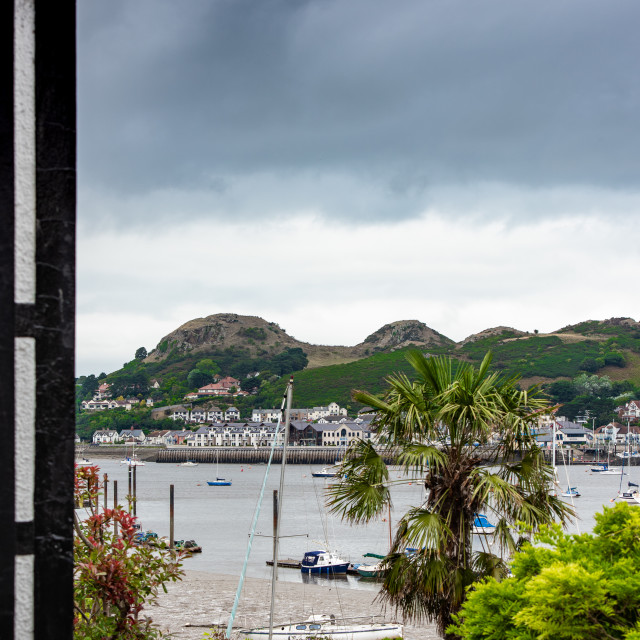 """Deganwy from Conwy"" stock image"