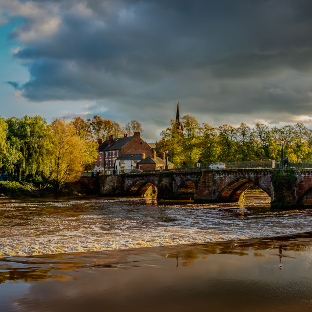 """River Dee at Chester"" stock image"