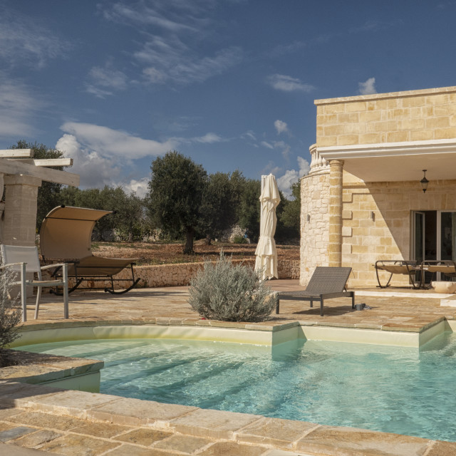 """""""Clasic villa with swimming pool"""" stock image"""