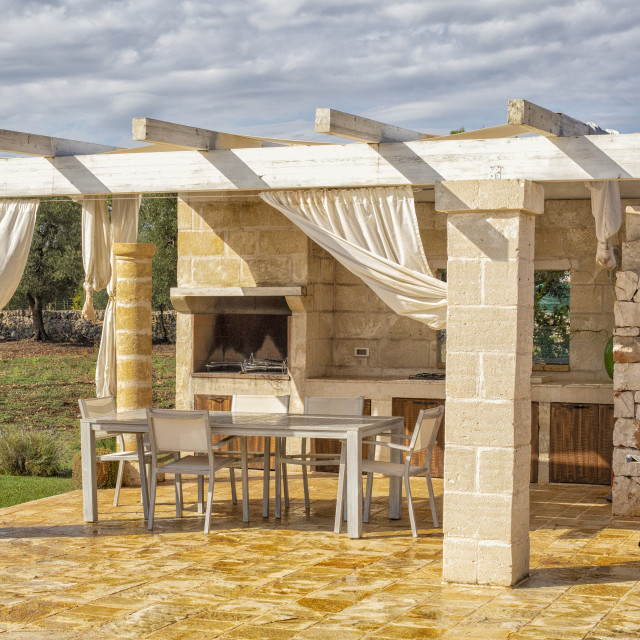"""Outdoor kitchen"" stock image"