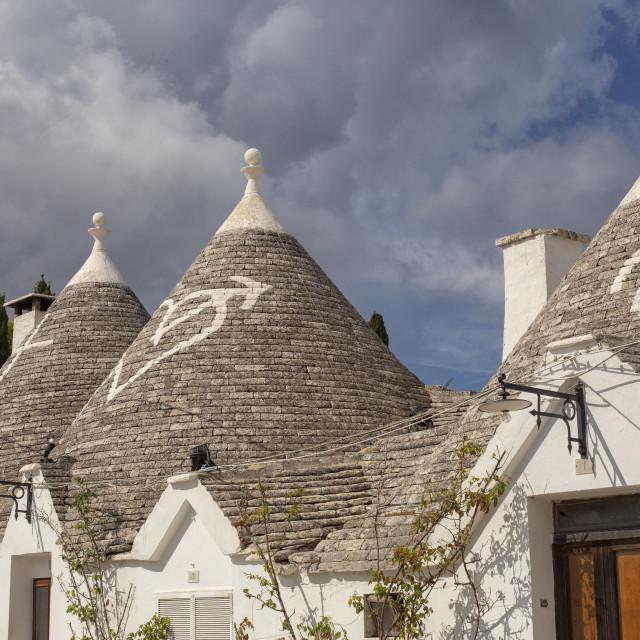 """""""Trulli roofs in Alberobello, Puglia"""" stock image"""
