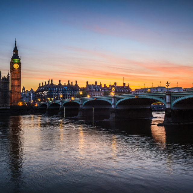 """""""Westminster Sunset"""" stock image"""