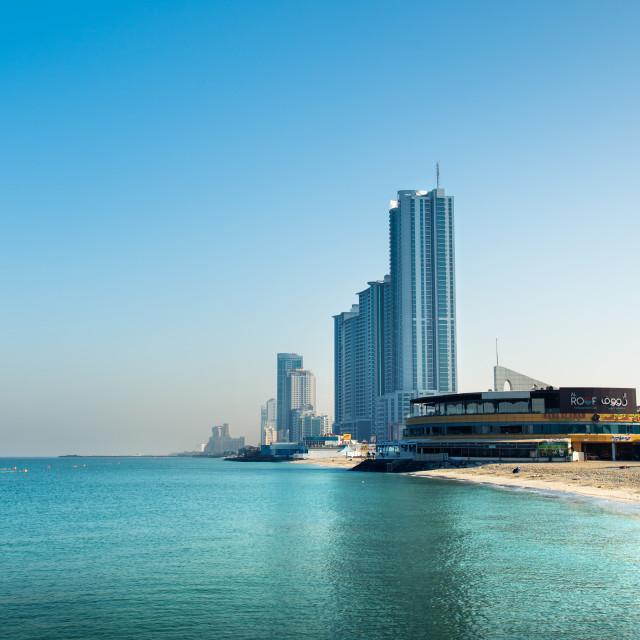 """Ajman, United Arab Emirates - December 6, 2018: Ajman Corniche B"" stock image"