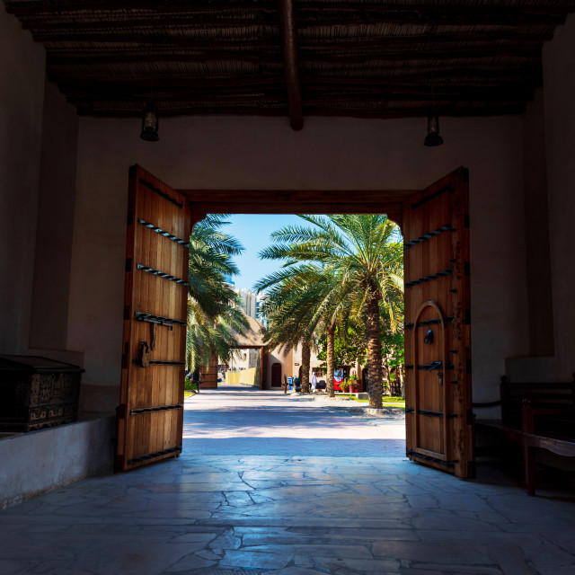 """Ajman, United Arab Emirates - December 6, 2018: Ajman Museum ent"" stock image"
