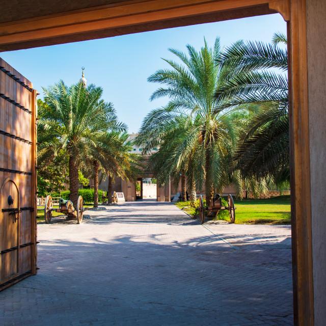 """Ajman, United Arab Emirates - December 6, 2018: Ajman Museum sho"" stock image"