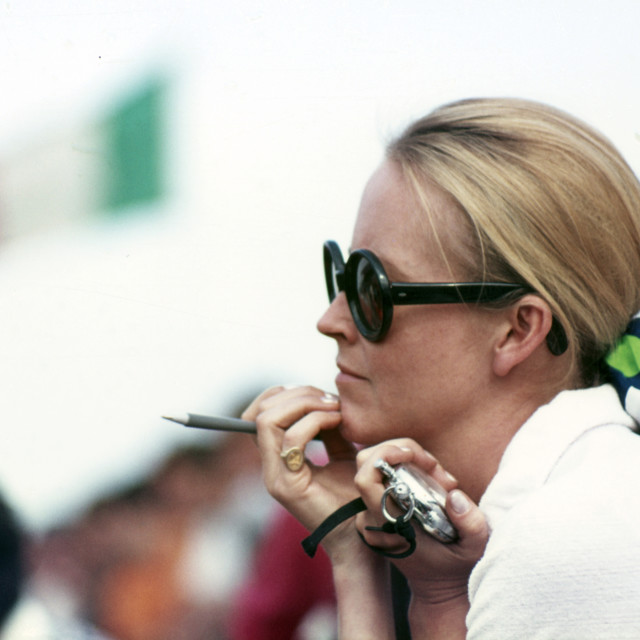 """""""Sally Courage Silverstone 1969"""" stock image"""