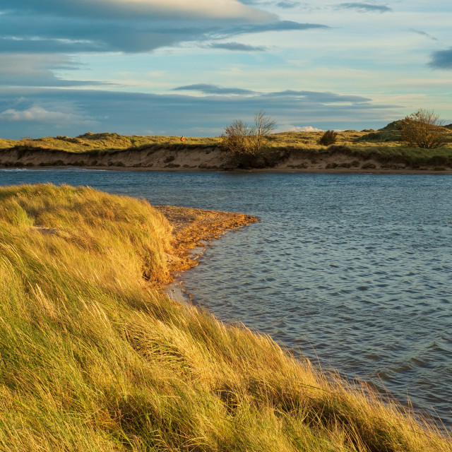 """""""Alnmouth at sunset"""" stock image"""