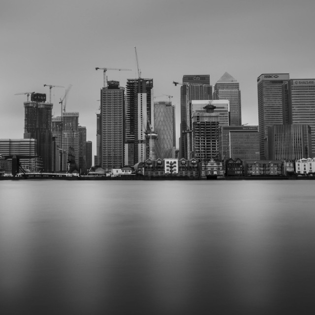 """Canary Wharf Calm"" stock image"