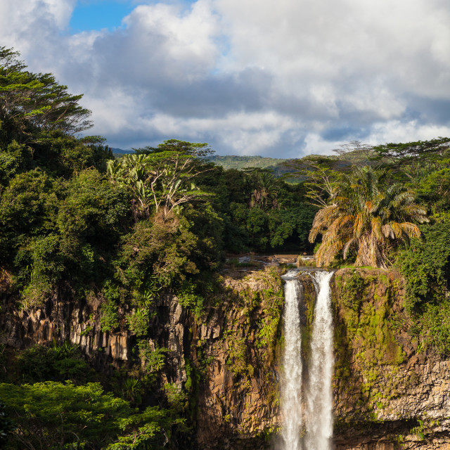 """Chamarel Waterfalls, Black River Gorges National Park, Mauritius"" stock image"
