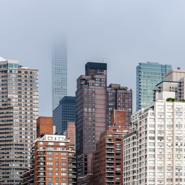 """Skyline of Midtown of New York City"" stock image"