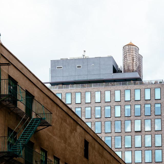 """Residential buildings in DUMBO area in New York"" stock image"