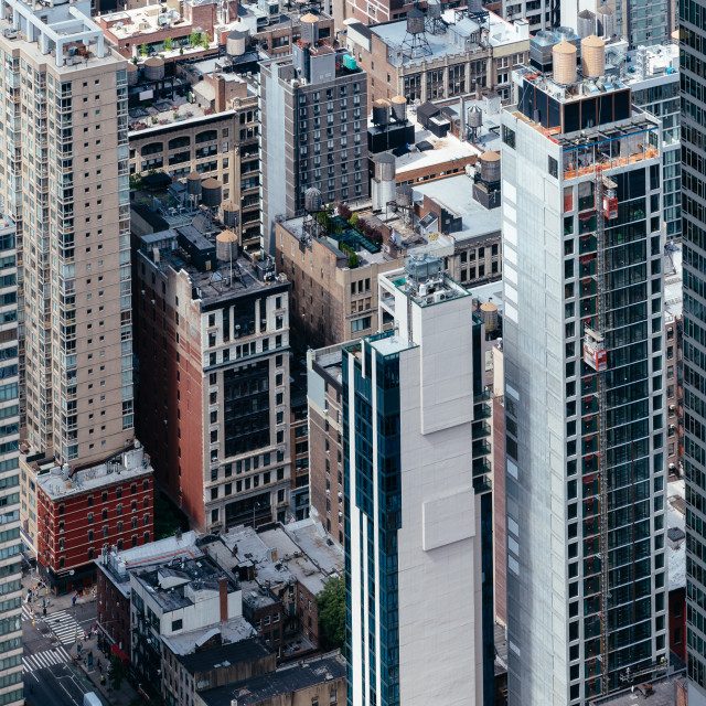 """""""Aerial view of buildings of Midwtown of Manhattan in New York"""" stock image"""