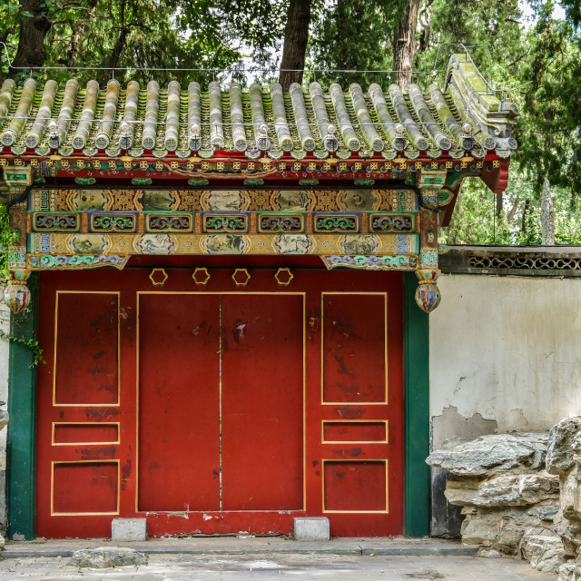 """Traditional Chinese gates"" stock image"
