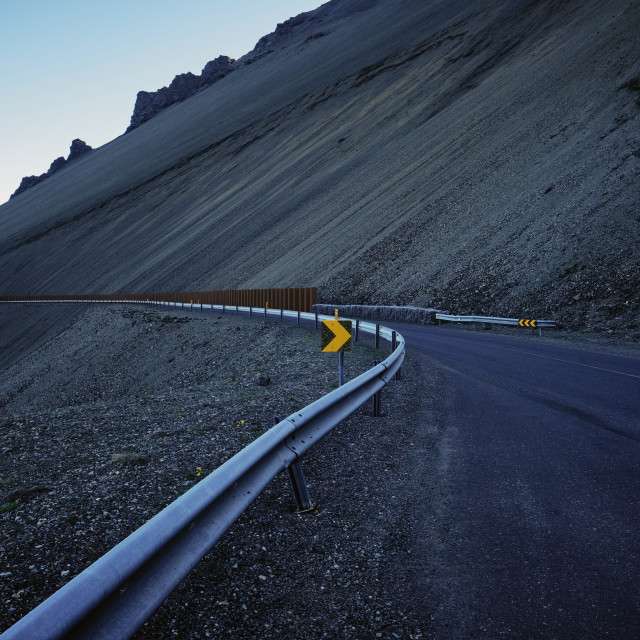"""An empty iceland road and landscape."" stock image"