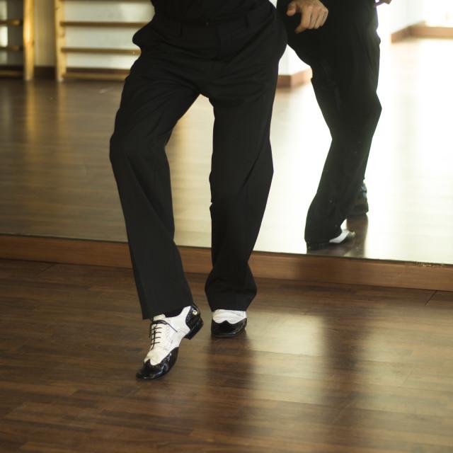 """Ballroom dance salsa dancer"" stock image"