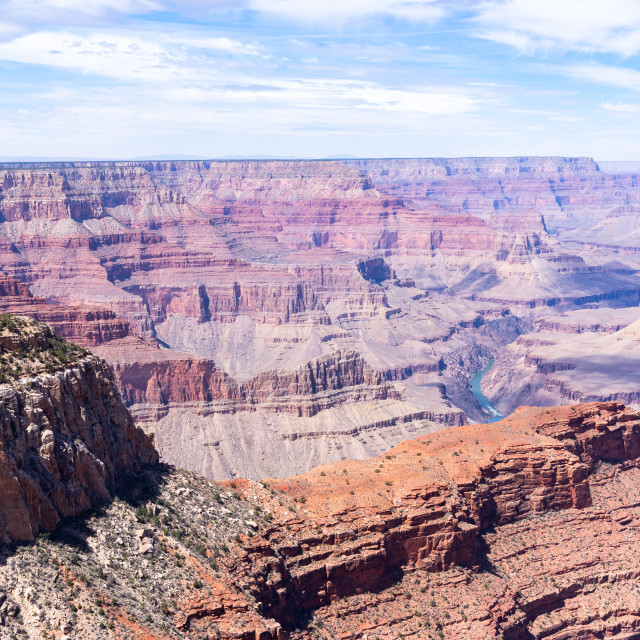"""South rim of Grand Canyon"" stock image"