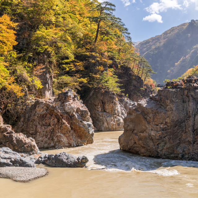 """Ryuyo Gorge canyon Nikko Japan"" stock image"