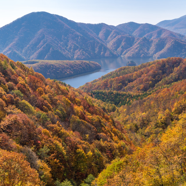 """Nakatsugawa gorge from view point Azuma lake line"" stock image"