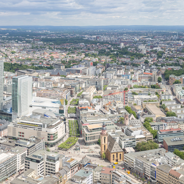 """Frankfurt Germany aerial view"" stock image"