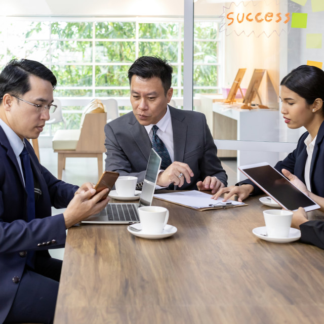 """Business team meeting"" stock image"