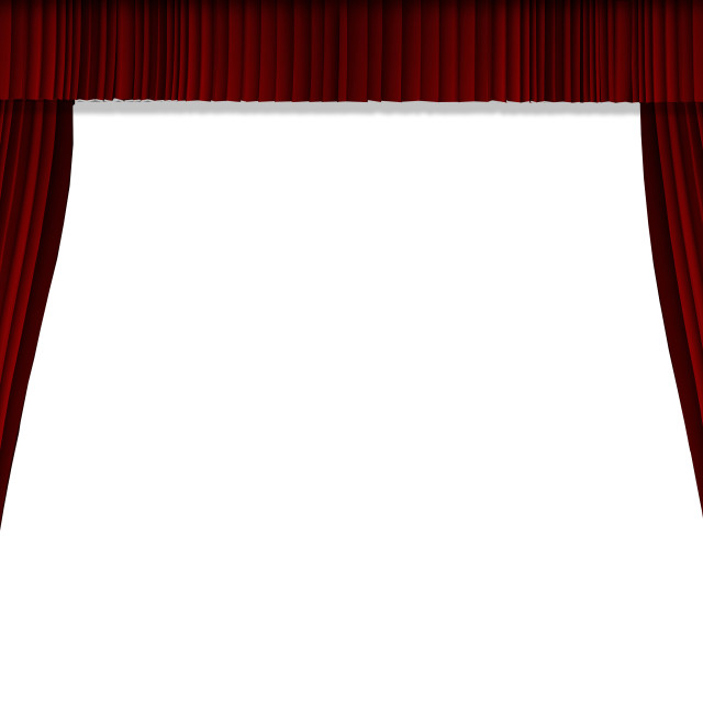 """Red curtain show background"" stock image"