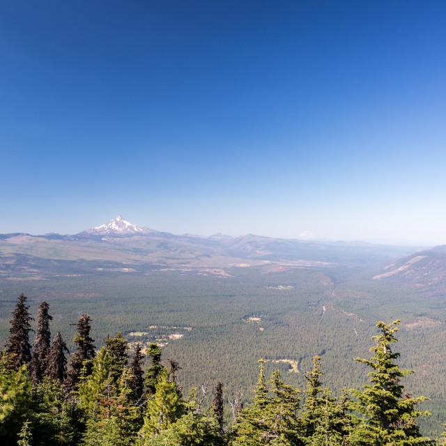 """""""Mt. Jefferson Landscape View"""" stock image"""