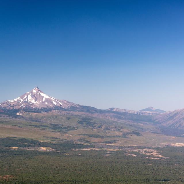 """Landscape of Mt. Jefferson"" stock image"