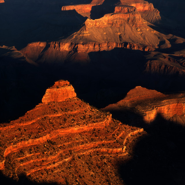 """Sunrise at Yaki Point Grand Canyon"" stock image"