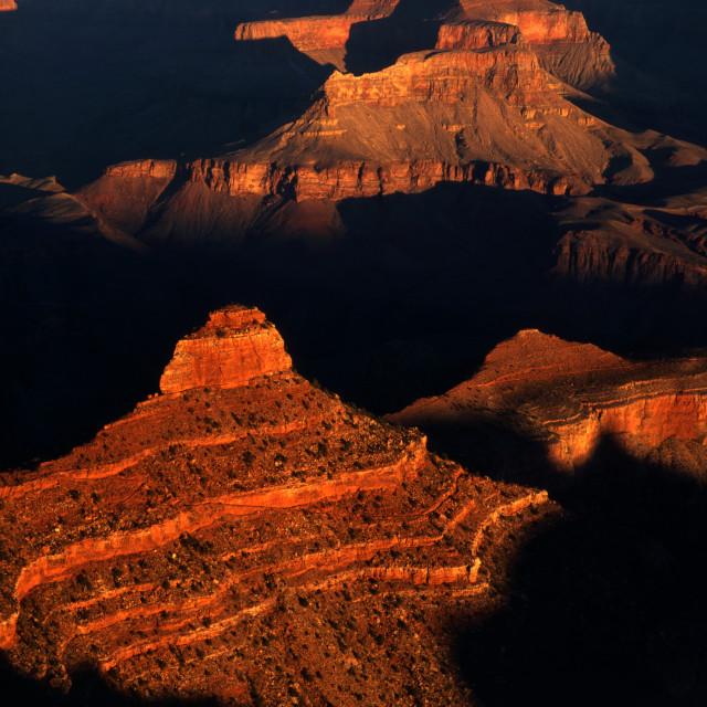 """""""Sunrise at Yaki Point Grand Canyon"""" stock image"""