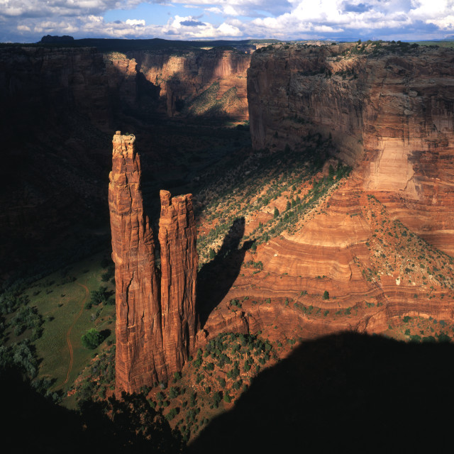 """Spider Rock in Canyon de Chelly"" stock image"