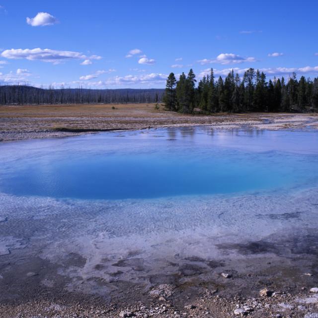 """Opal Pool Yellowstone National Park"" stock image"