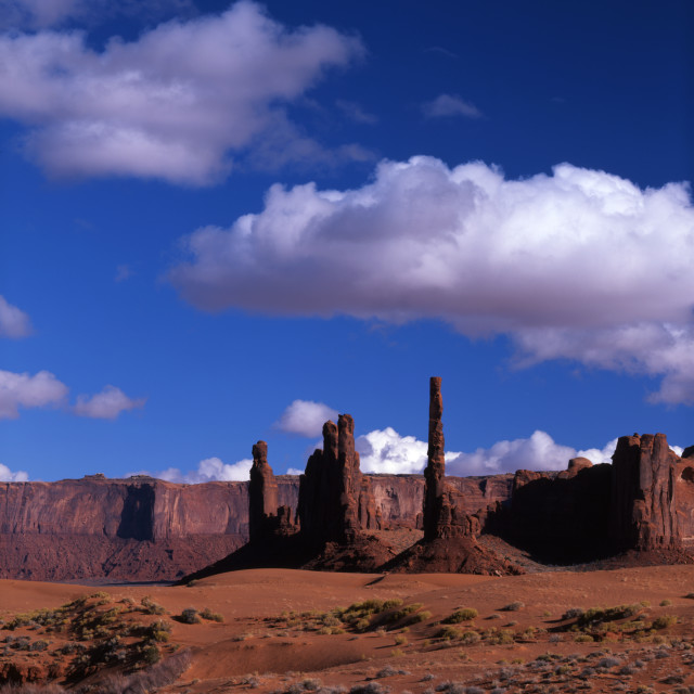 """The Totem Pole Monument Valley"" stock image"
